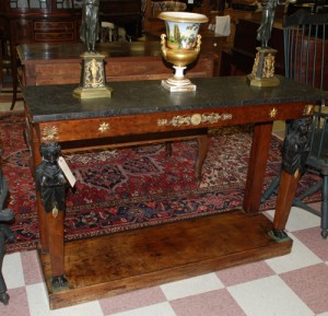antique empire console at charlies antiques in williamsburg va