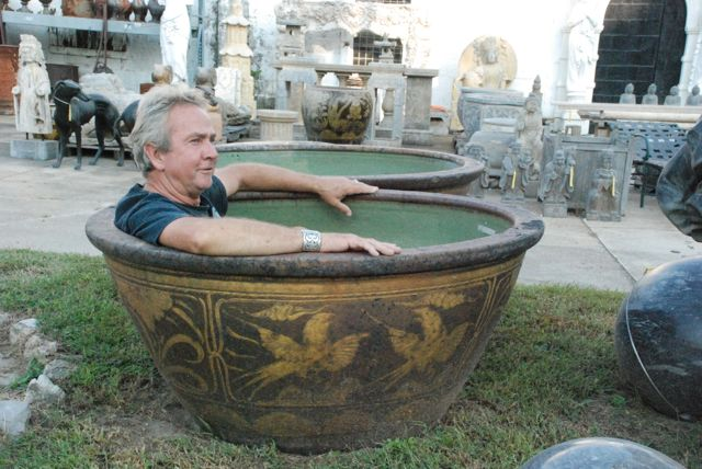 antique chinese tub for landscaping yard at charlies antiques in williamsburg va